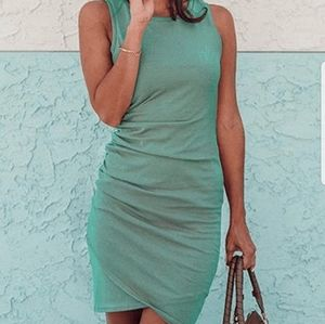 Casual Ruched Short Sleeve T-Shirt Dress